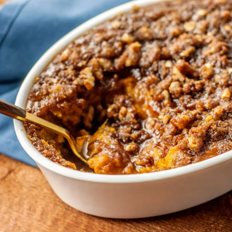 Classic Sweet Potato Casserole - This Southern sweet potato casserole is the perfect combination of sweet potato filling and crunchy, buttery pecan topping. It's the only sweet potato casserole you'll need and it's sure to be a hit with family and guests.Get the recipe>>