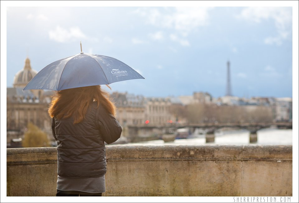 paris, eiffel tower, helmut newcake, cafe le notre dame, rainy day, travel, sherri preston, sherri preston photography, sherri preston blog, blog, umbrella, coffee, bakery, sunset, view, paris france,
