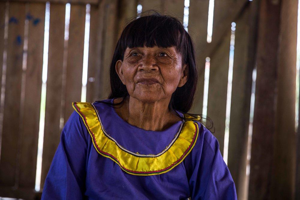 Lydia, whose Shipibo name is 'Pekon Rabi'