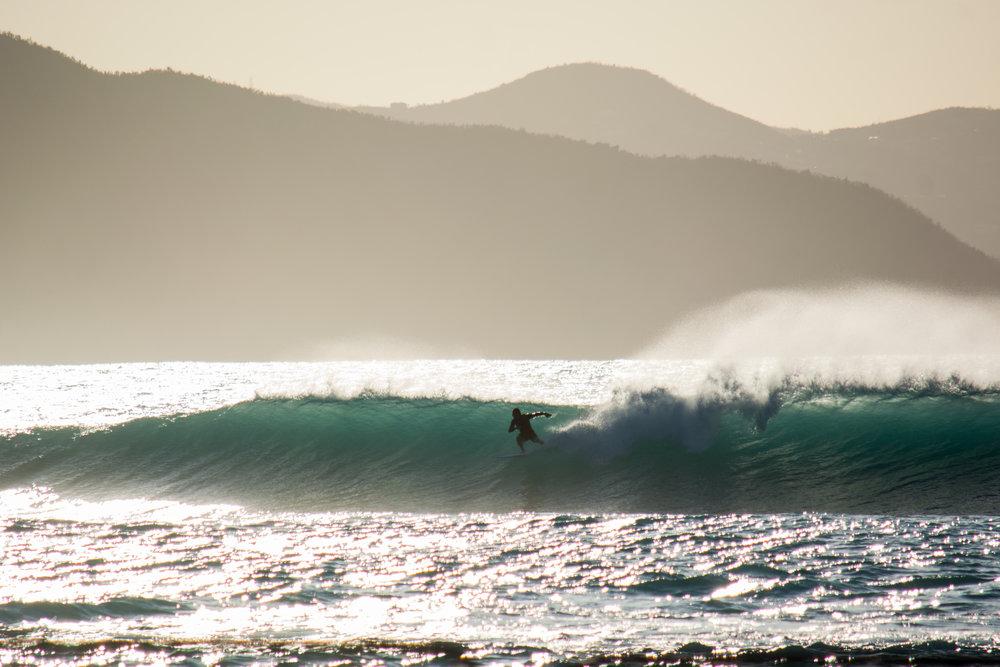 Surfer at St. Thomas Bay Virgin Gorda