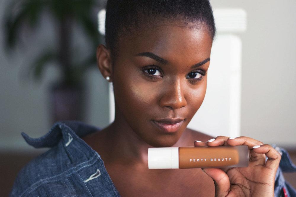 black female blogger fenty beauty by rihanna