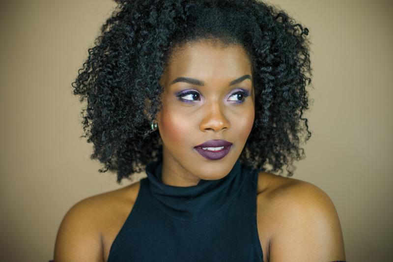 black female beauty blogger dark lipstick