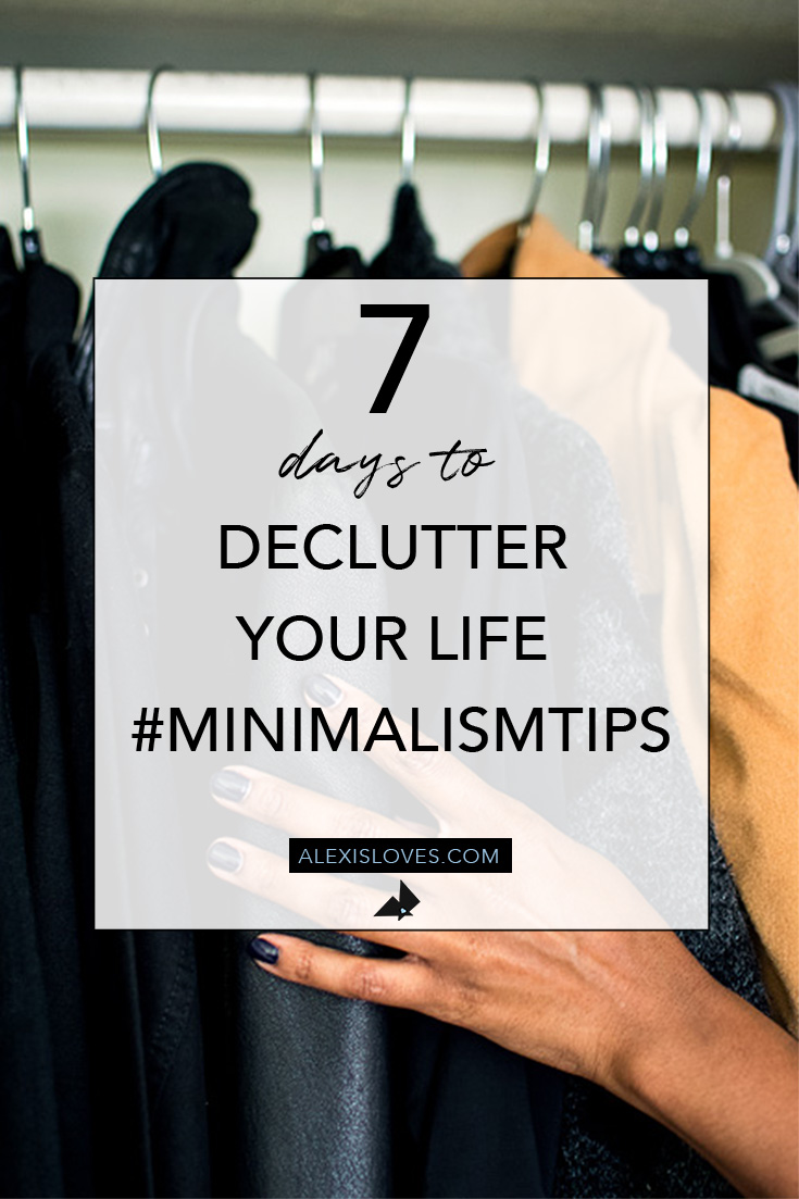 decluttered closet minimalist