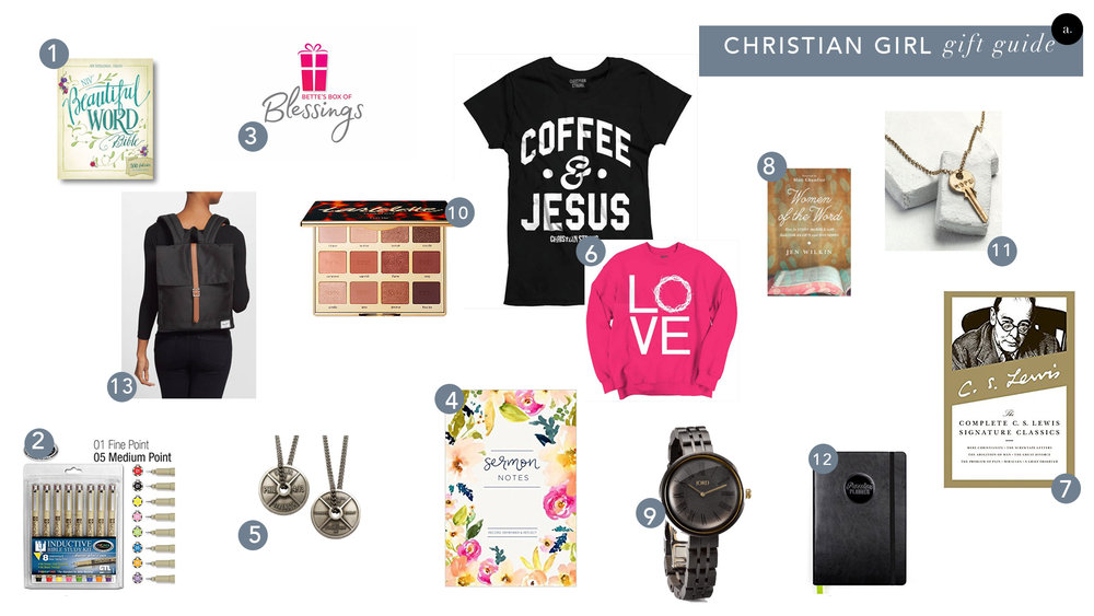 gift guide for Christian women Christmas 2017