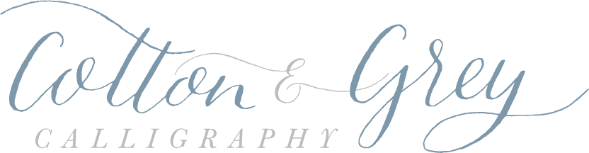 Cotton & Grey Calligraphy