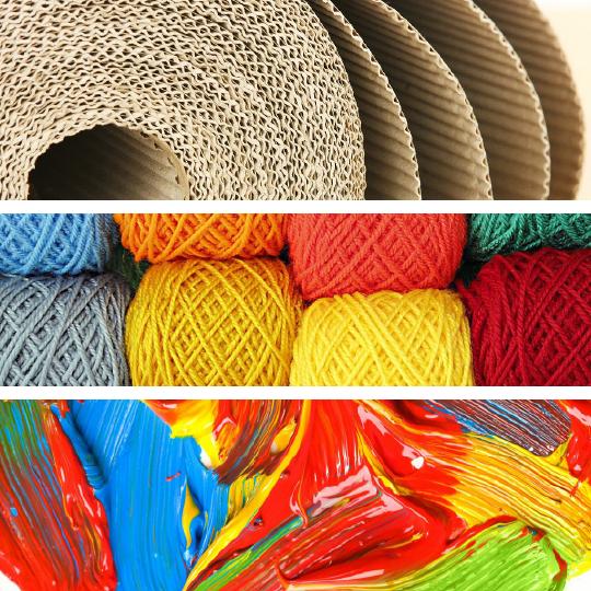 Mediums - Cardboard, String, Paint