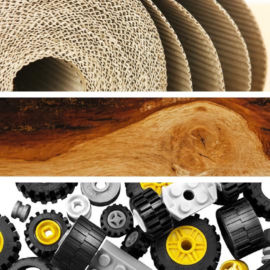 Mediums - Cardboard, Wood, & Wheels