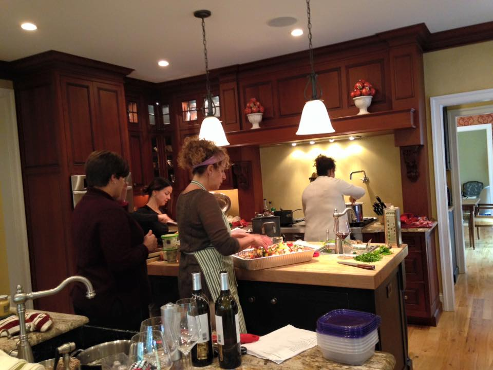 Coming together to cook for teachers