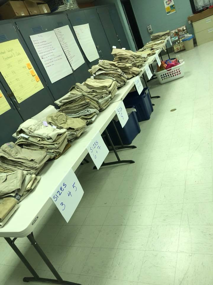 If you want to collect khakis for uniforms...