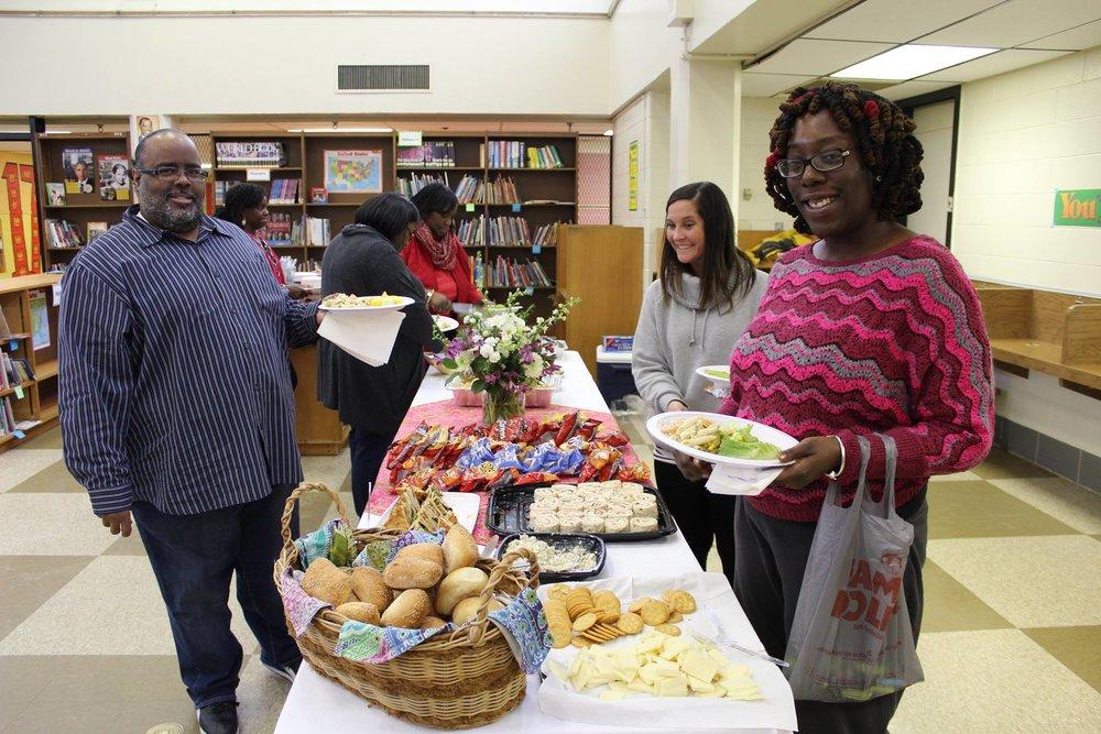 Serving up teacher appreciation lunch