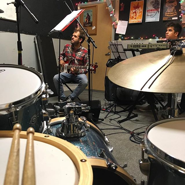 Back in the lab experimenting 🔬🌙 #viewfromthedrums #givethedrummersome #localmusic #sf #drums #bass #sanfrancisco #sfmusic #bayareamusic #hellabay