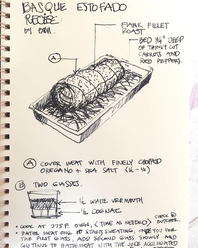 #beautiful #sketch #handdrawing #recipe #dinner #dinnerideas #handdrawn #roast #homecooking