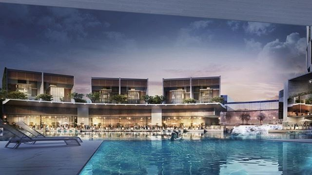 #bruarchitects #beautiful #3drendering #perspective #poolside #luxury #hospitality #contemporary #modernarchitecture #archdaily