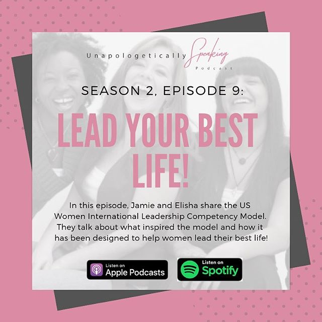 This week's episode is crazy good! Not only are we sharing our US Women International Leadership Competency Model, we are also making a major announcement that's going to rock your socks! So tune in tomorrow for Episode 9: Lead Your Best Life!  #unapologeticallyspeaking  #helpingwomenwin #womeninleadership #girlboss  #leadyourbestlife  #podcastlife #ladieswhopodcast