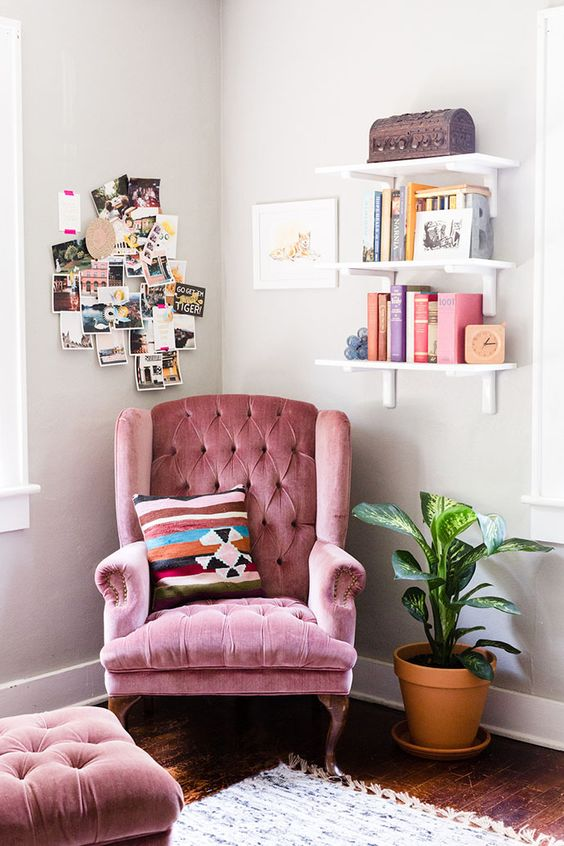 05-a-cozy-pink-velvet-armchair-with-a-footrest-will-add-a-girlish-touch-to-your-space.jpg