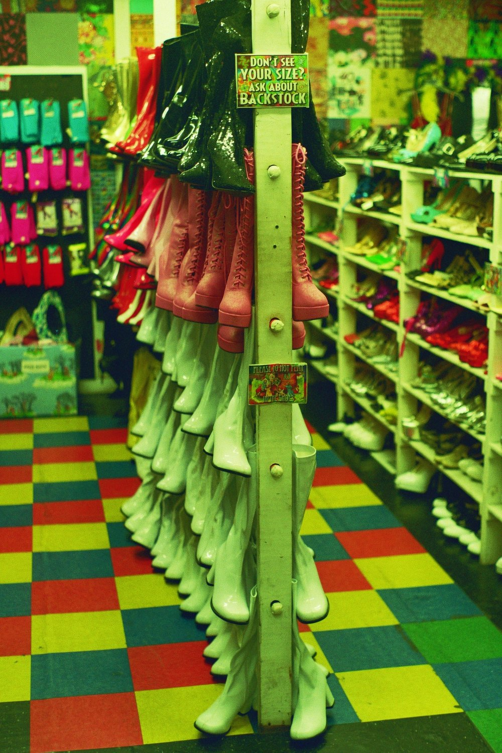 They carry far more than cowboy boots at this Austin landmark.  Lucy In Disguise With Diamonds, South Congress, Austin, TX.