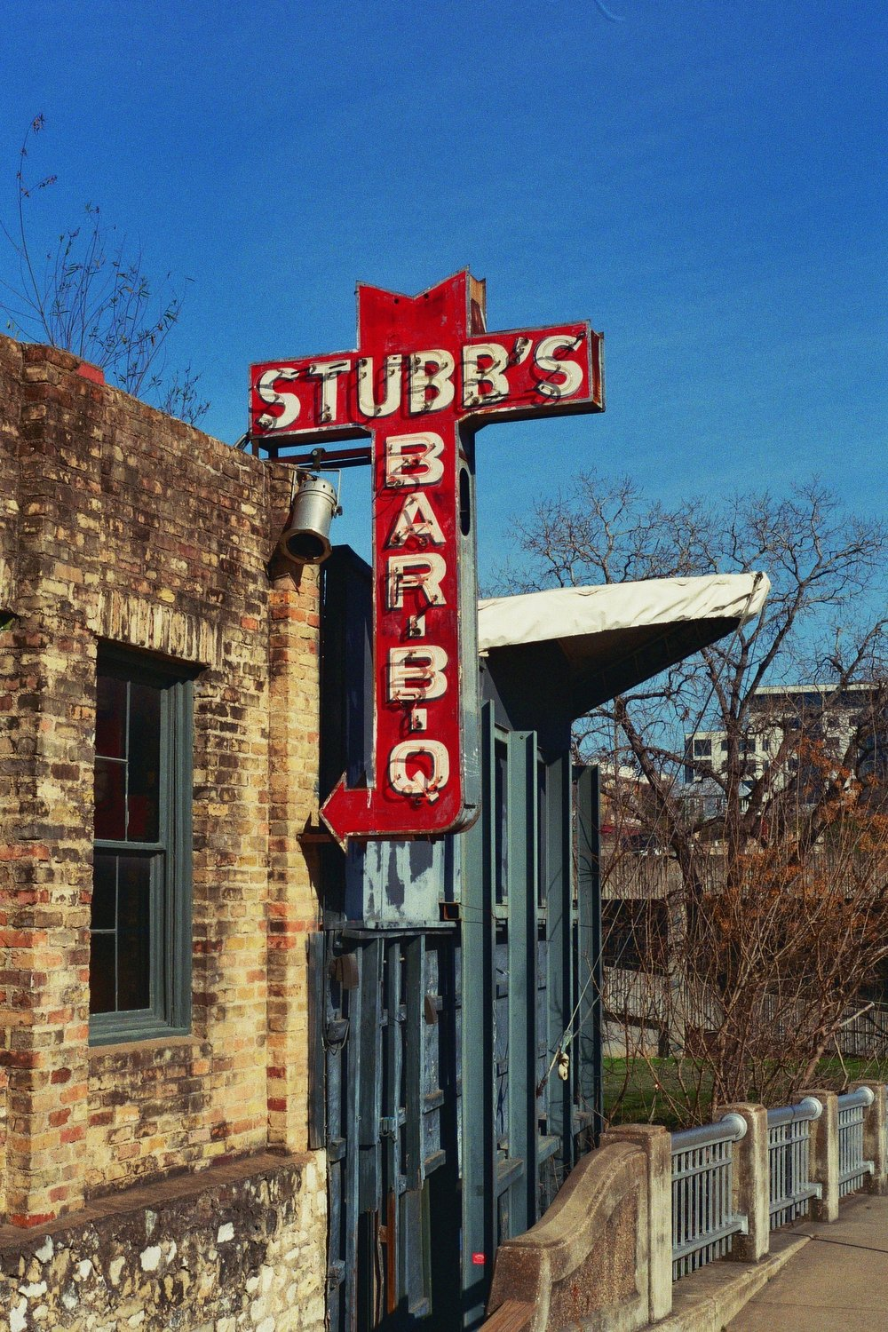 The world famous (but really though) Stubb's BBQ, an institution of live music (and BBQ, naturally) . Austin, TX