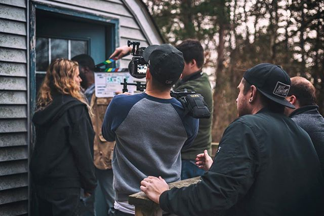 A little behind the scenes from last weekend's shoot! . . . . . . #cinematography #film #bts #sonya7s #zeen #shoulderrig #handheld #shortfilm @tylerfalt15 📷: @sarahmgloria