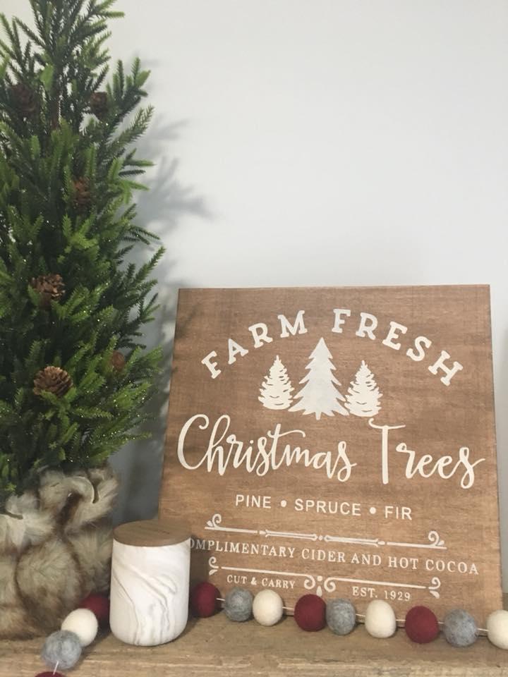 Fresh Christmas Trees.Farm Fresh Christmas Trees No Frame