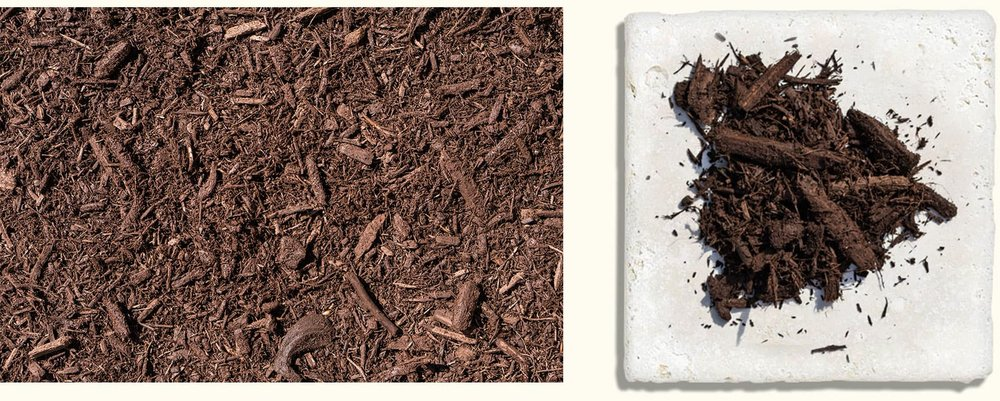 Premium Hardwood Brown Dyed $35.99+ - Your mulch color lasts longer throughout the season with our brown dyed product.