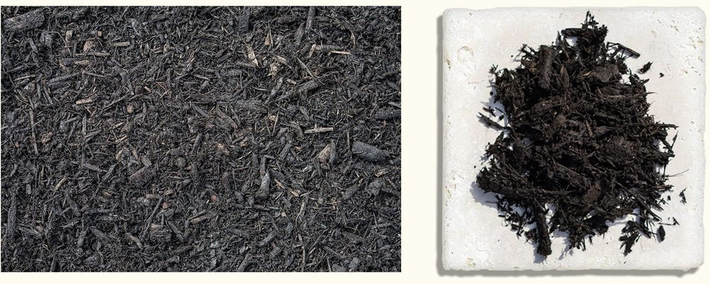 Premium Hardwood Black Dyed $35.99+ - Our black, season lasting colored mulch is the closest to the look of black soil to really make your plant colors pop.