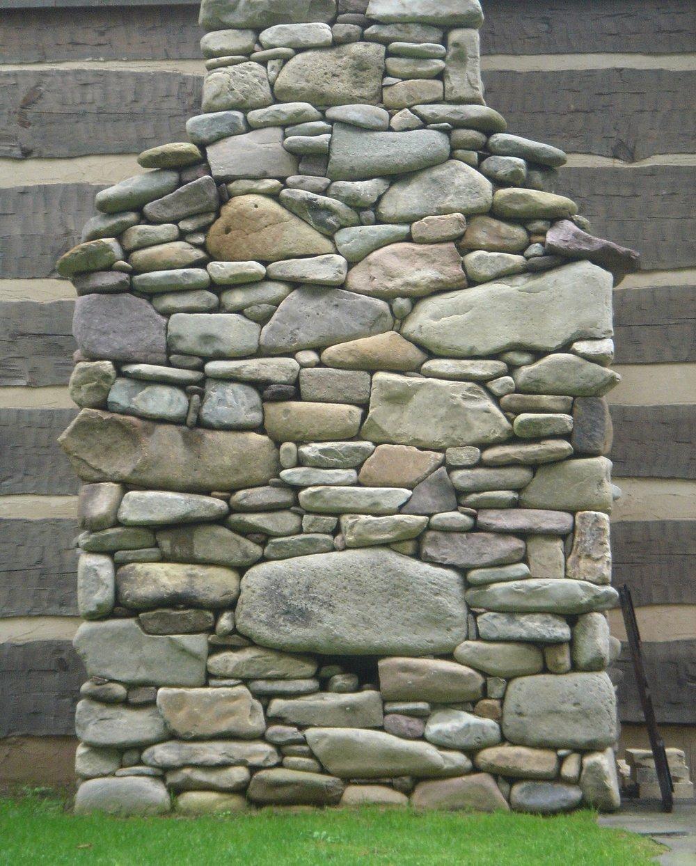 Cabin Stone Chimney.JPG