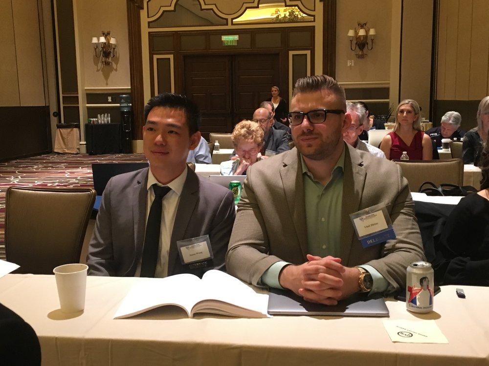 Touro University Student Jason Wang & UNLV School of Medicine Student Vladislav Zhitny were among the Clark County Medical Society Delegation