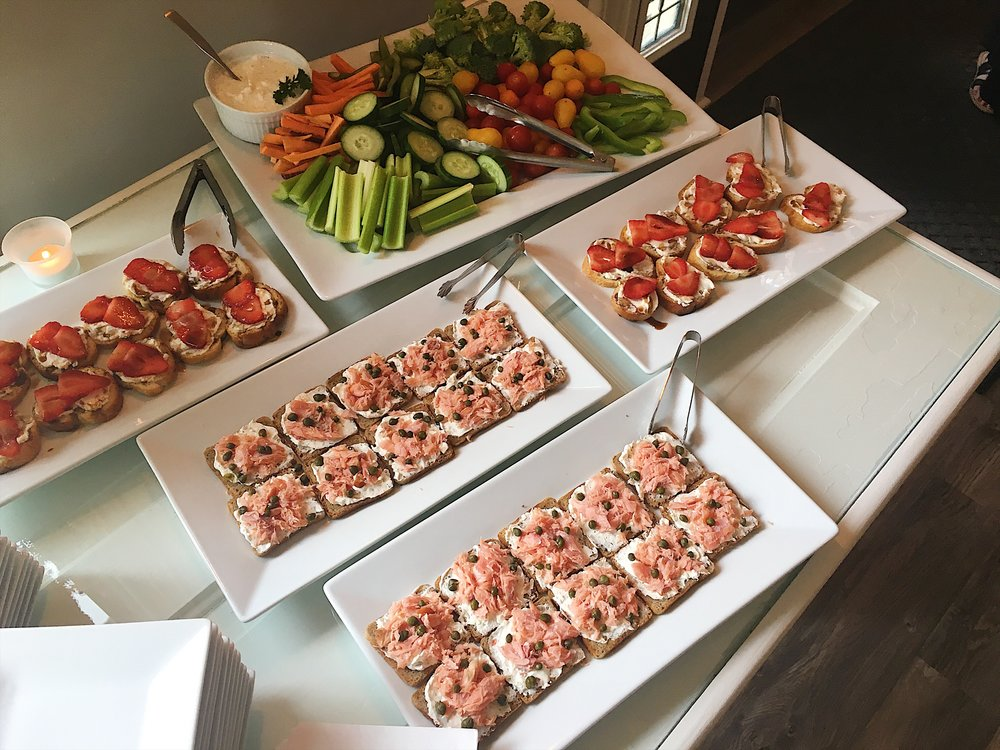 We can customize your food preferences from simple appetizers to elaborate meals.