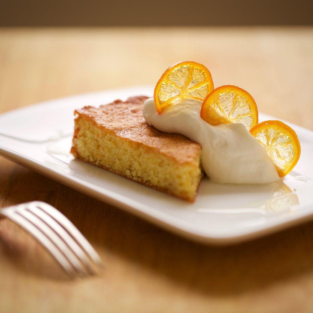 olive oil almond citrus cake