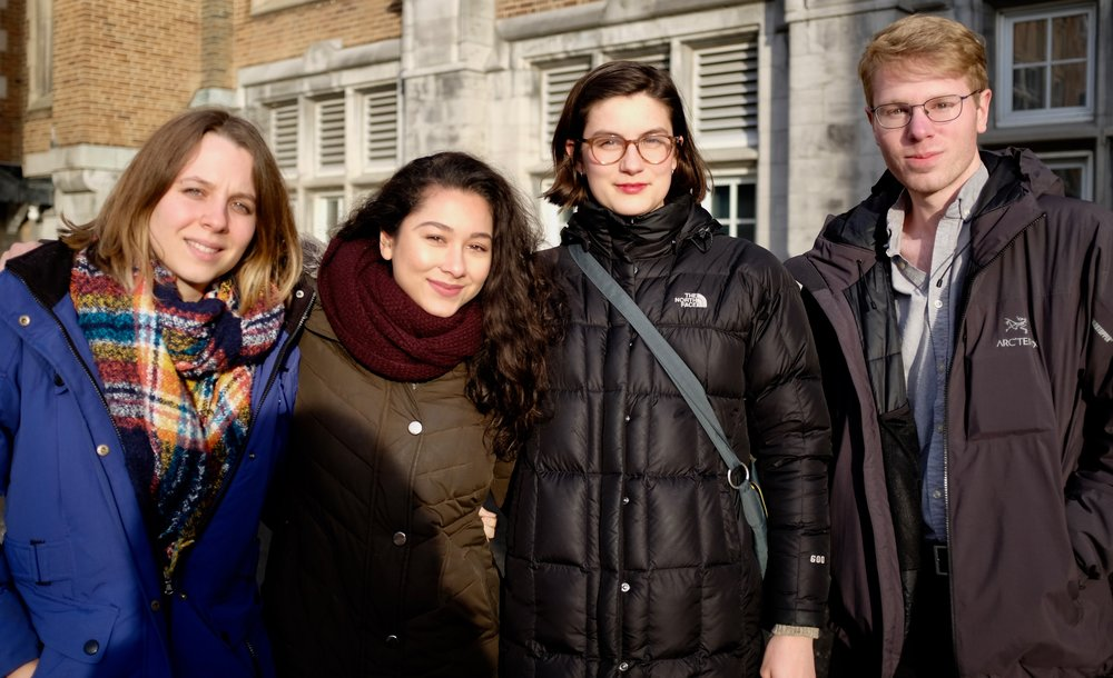 From left to right: Emilie Tremblay, Sharon Yonan Renold, Verity Stevenson and Olivier Sylvestre
