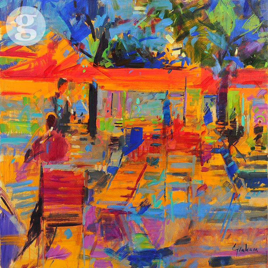 Les Tuileries 91x91cm -oil