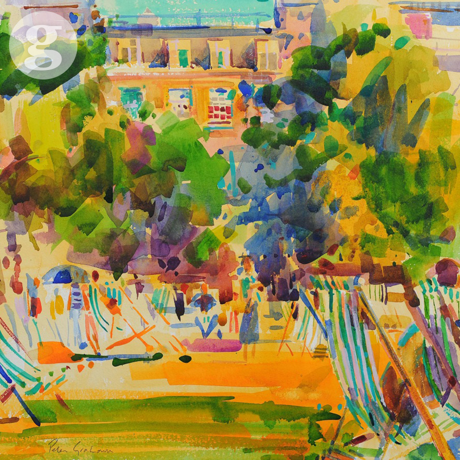 Green Park 55x57cm - watercolour