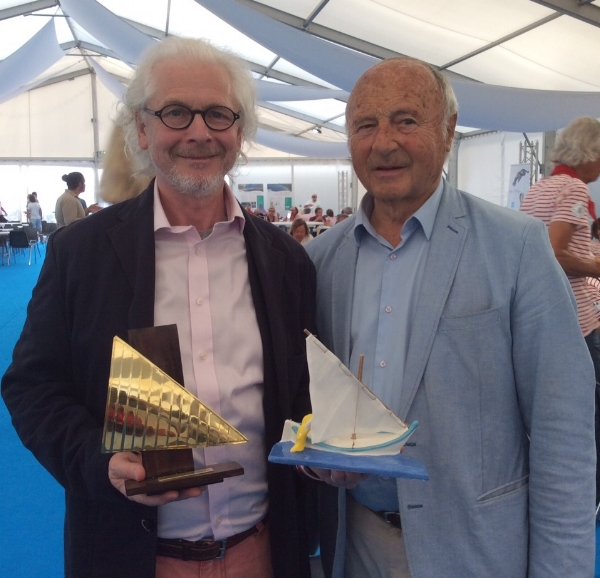 I was delighted to meet the Mayor of St Tropez, Jean Pierre Tuveri, as Offical Artist of 'Les Voiles Latines'  at the awards ceremony.