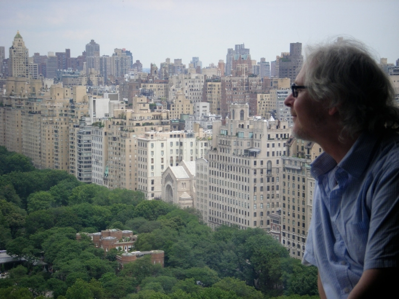 ...and here I am in New York, 36 floors up looking out over Central Park where the painting came from - what a view!