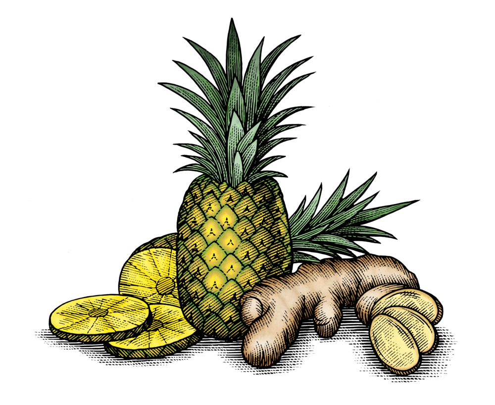 Pineapple & Ginger Root