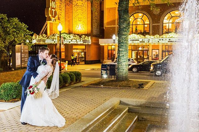 We set up this gorgeous nighttime shot in front of the @paramountaurora and got the photos just before it started to rain! ☔️💍💑 • • • • #weddingphotography #weddingphotographer #chicagoweddingphotographer #chicagoweddingphotography #milwaukeeweddingphotographer #milwaukeeweddingphotography #weddinginspiration #weddingpictures #mapleandoak #mapleandoakweddings #chicagophotographer #kellypelozaphoto #illinoisweddings #wisconsinweddings #bride #huffpostweddings #theknot #buzzfeedweddings #stylemepretty #utterlyengaged #loverly #radlovestories