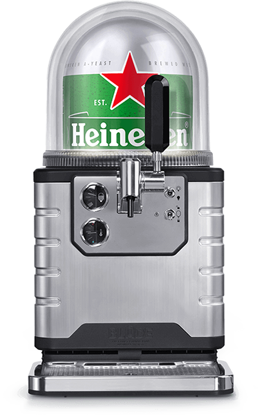 Product Details - Chills beer to 35 °FTemperature of beer in glass - 37 °FKeg volume - 8 literDimensions 590 x 290 x 471 mm (H x W x D)Weight 39 lbs (57 lbs including keg)Environment friendly:Energy consumption 70 WattNoise level < 70 dB100% recyclable packaging and beer kegsAlso includes:Tap handleDrip tray2 m power cableInstruction manual