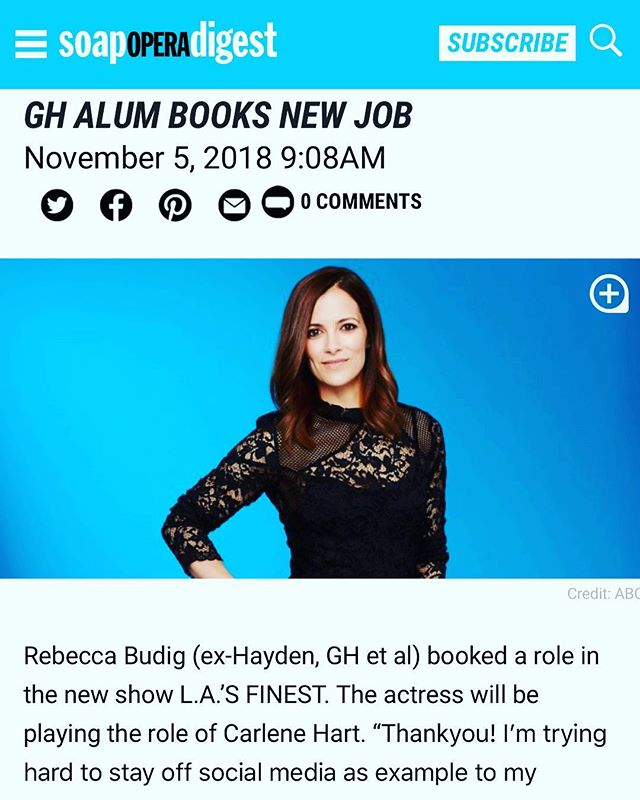 @rbjobud is one of the stars in the #foldednotesfromhighschool #audiobook - she is the greatest!  And now we get to see her on L.A.'s Finest! . . . #yabooks #ya #highschool #romance #supercouple #soapopera #allmychildren #gh #generalhospital #rebeccabudig #star #comedy #newengland #booktotv #novel #penguin #authorsofinstagram