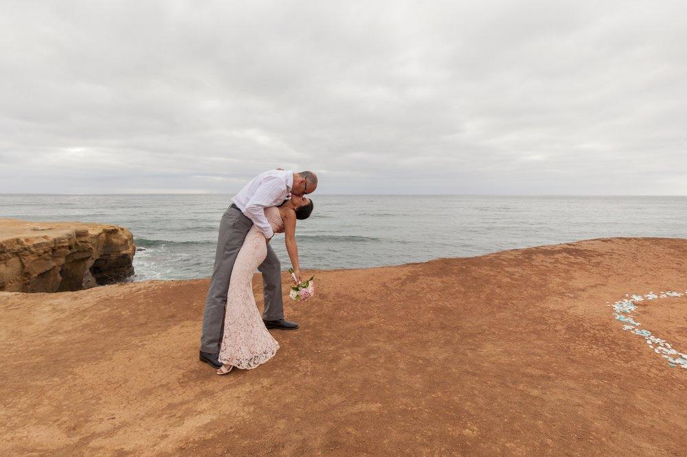San Diego Elopement in June on Sunset Cliffs