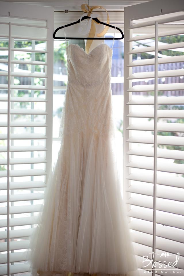 Oceanview room wedding dress