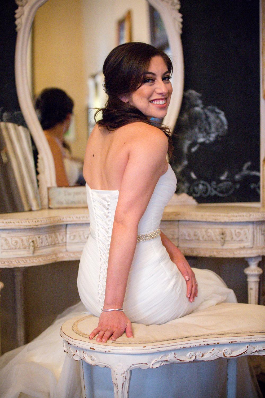 Bride at Twin Oaks Wedding