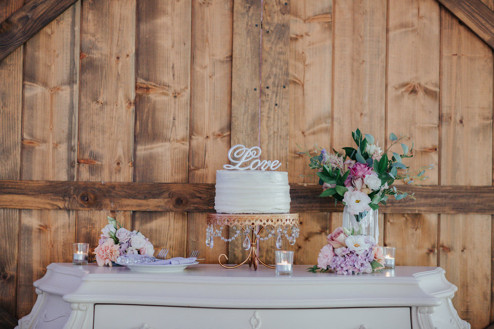 Wedding Cake by San Diego wedding photographers Blessed Wedding taken at Green Gables Wedding Estate in San Marcos, CA