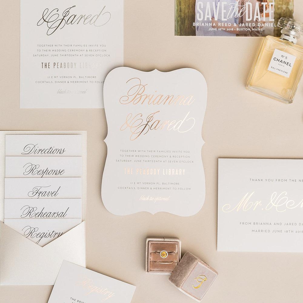 Blessed Wedding Photography Basic Invite