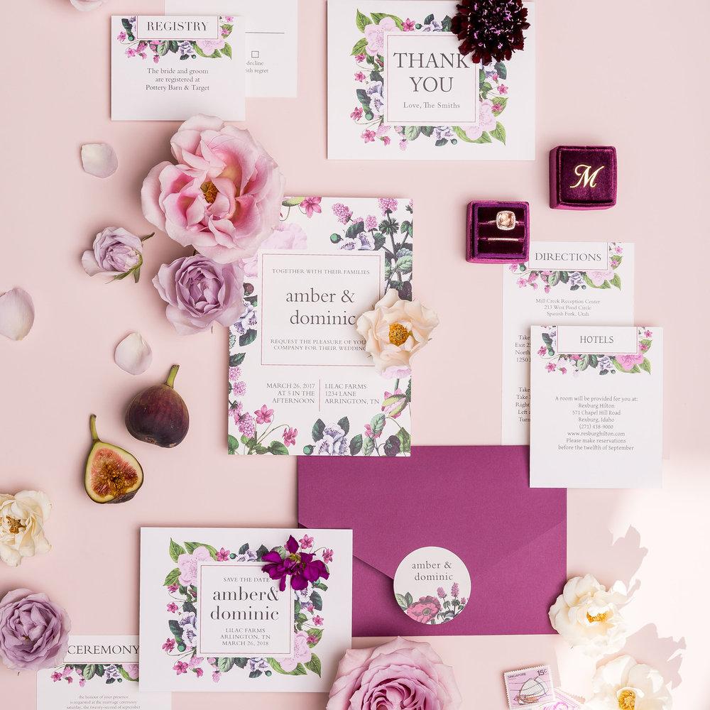 Vintage Botanical Basic Invite