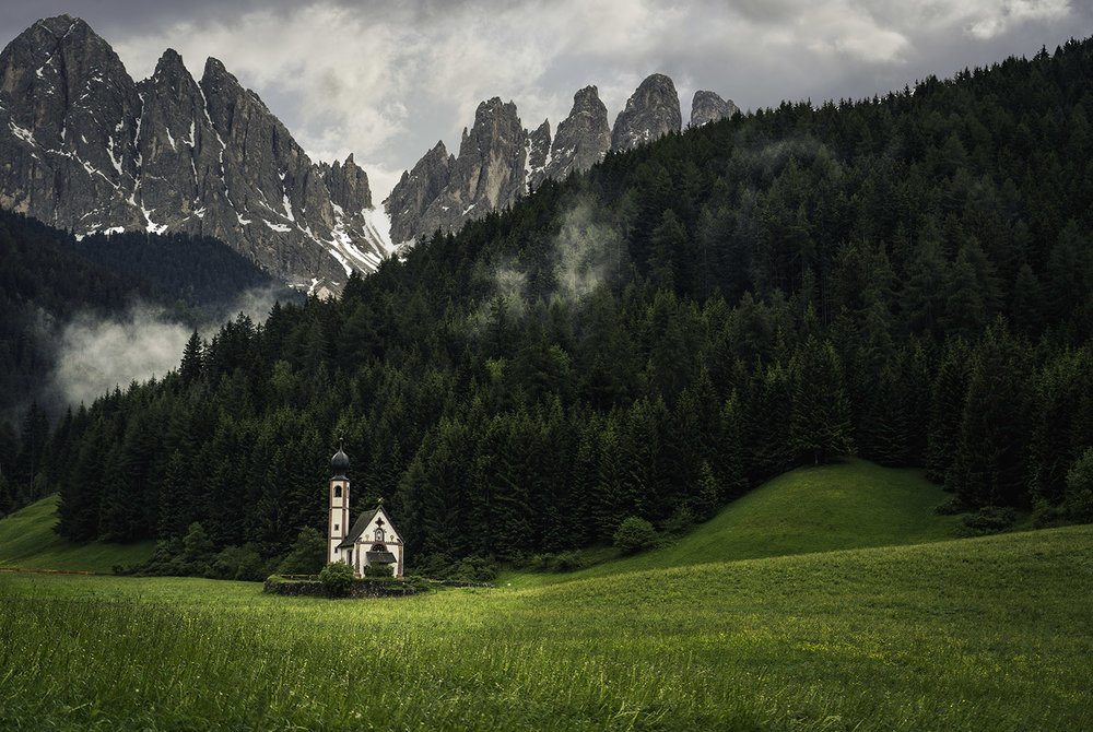 dolomites italy church