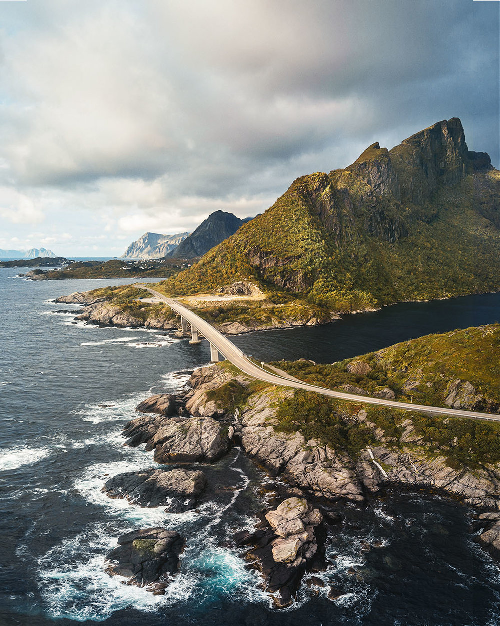 lofoten islands Norway drone photography