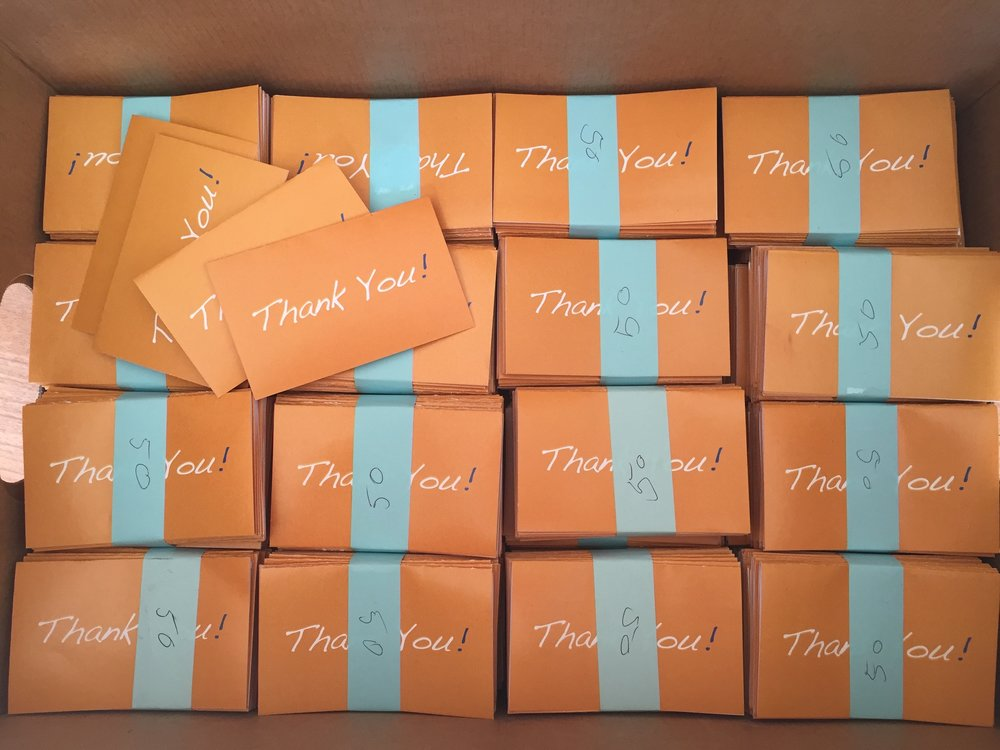 Copy of 6,000+<br> Thank You Notes <br>Hand Written & Delivered