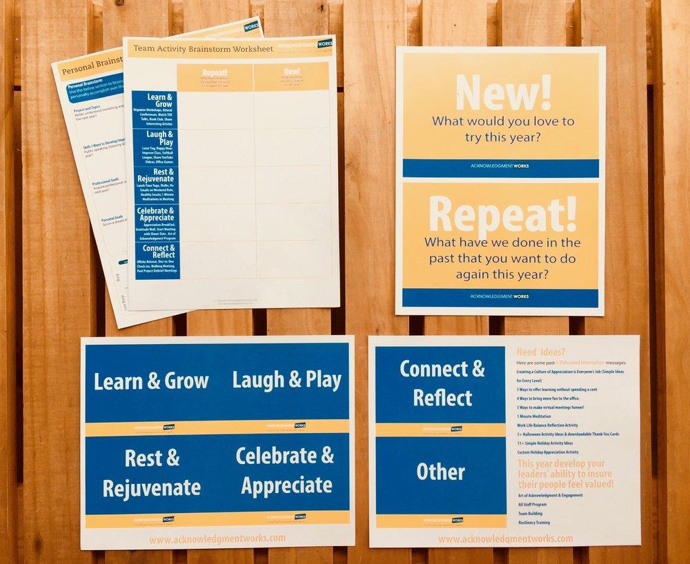 Culture Brainstorming&Planning Activity Detailed Instructions & Handouts - Download Below