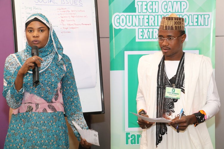 A group pitching their project idea to the panelists at the last session of the Tech Camp.   Our partner TV station  Arewa24  will feature   the Tech Camp and 7 participants in a new segment on the popular youth series  Matasa@360 .