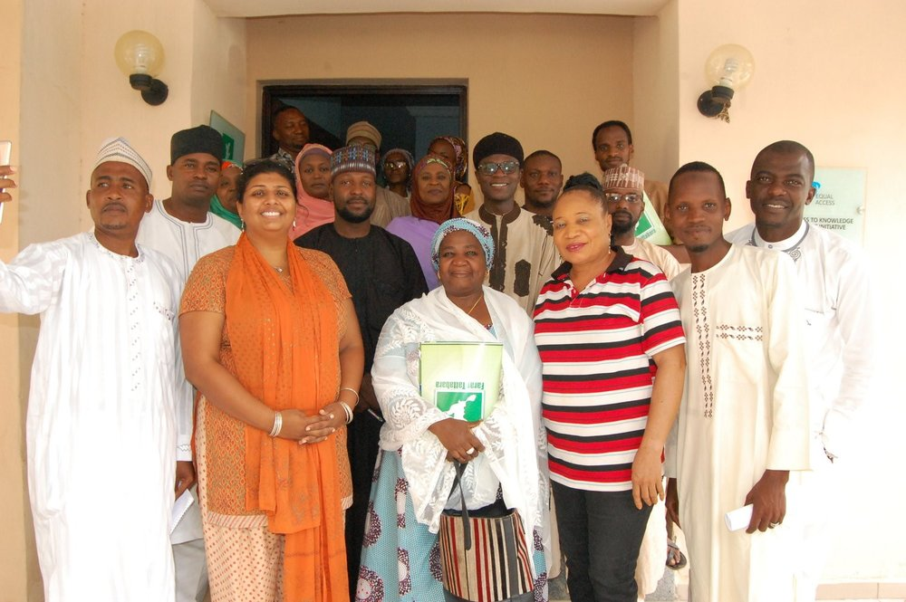 A CROSS SECTION OF FACILITATORS AND ATTENDANTS AFTER THE EVENT
